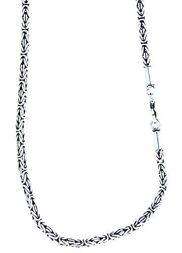 Edle Königskette aus 925 Sterling Silber, 3 mm dick, verschiedene Längen -