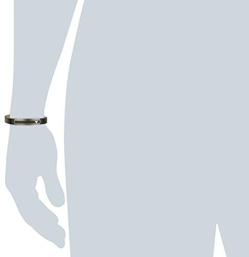 Emporio Armani Herren Armband Edelstahl Leder EGS19230 -