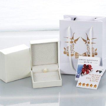 Fanci Women's Fashion Noble natürliche Süßwasserperlen rein handgefertigt, Farbe: weiß, Länge: 6,69 In -