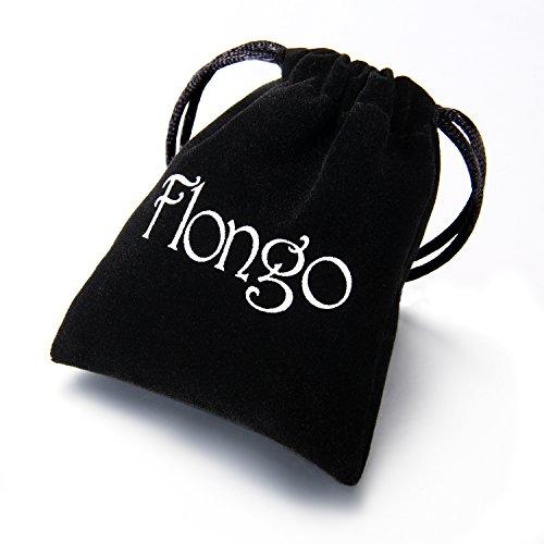 Flongo 9mm Breit Edelstahl Halskette Königskette Kette Silber 57cm Herrschsüchtig Rau Punk Rock Herren -