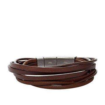 FOSSIL Armband JF86202040 Leder braun -