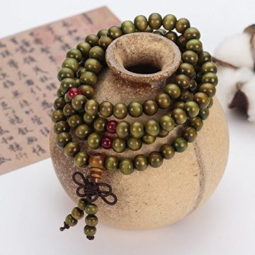 Gebet Perlen Armband Natur Holz Tibetischen Buddhistischen Buddha Meditation Halskette -