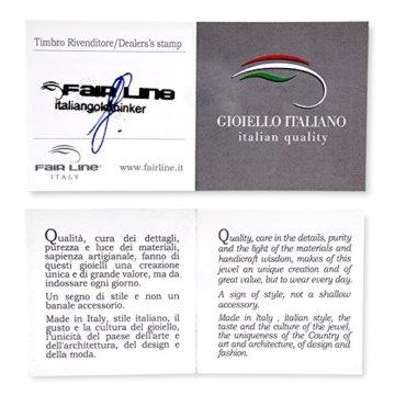 Gioiello Italiano Herren Armband, 14 Karat Rotgold, mit weißen Keramik-Details -