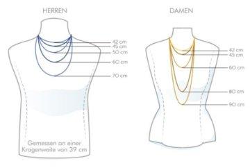 goldmaid Unisex Halskette Silber 925 9 klare Zirkonia Kanalfassung Kreuz Kr C4507S Kettenanhänger Schmuck -