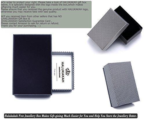 """Halukakah """"SOLO"""" Männlich Reines Leder Armband mit Titan Perlen Silber Titan Schließe mit Magnete 8,46 """"(21,5cm) mit KOSTENLOSER Geschenkpackung -"""