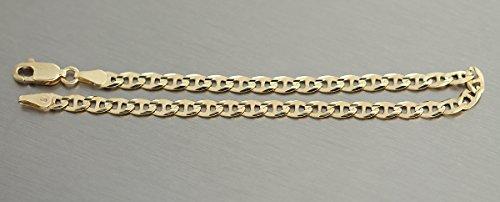 Hobra-Gold – 18 / 19 CM MASSIVES ARMBAND GOLD 585 / 14 KT GOLDARMBAND ARMKETTE KARABINER -