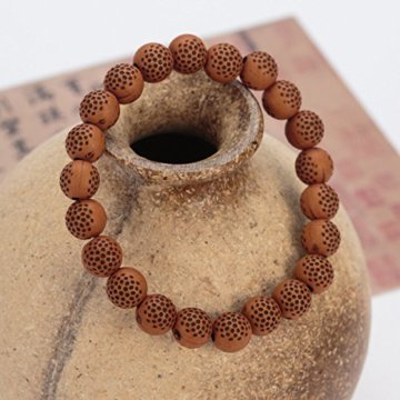 Holz Perlen Armband Für Männer Frauen Tibetischen Buddhistischen Gebet Link Cool -