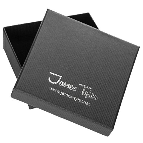James Tyler Metall-Lederarmband , Materialmix-Geflecht mit Panzerketten -