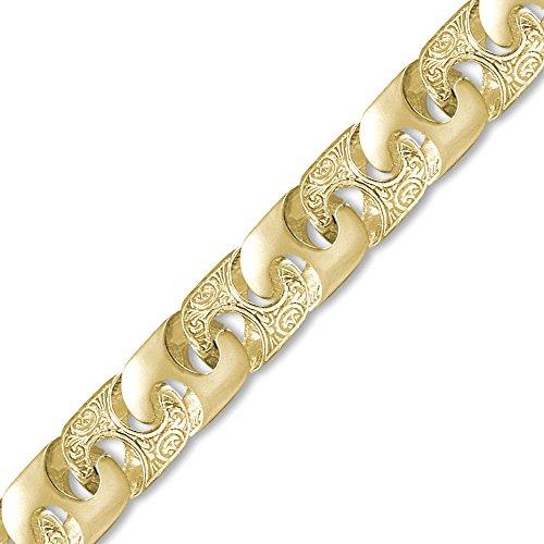 Jewelco London 9K Gold Bali Link 16mm Guss Halskette -