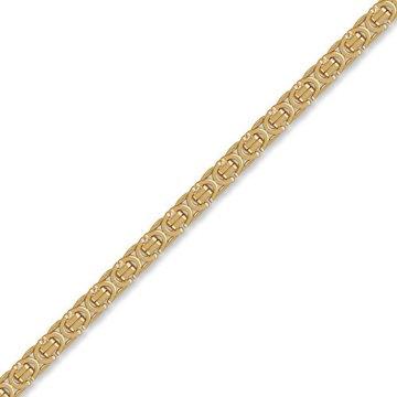 Jewelco London 9K Gold flach Byzantinische 5.7mm Halskette -