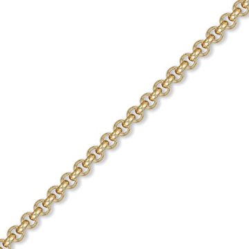 Jewelco London 9K Gold runden belcher 5.8mm Halskette -