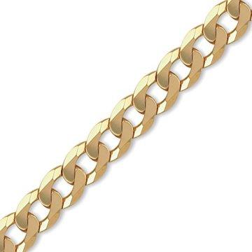 Jewelco London 9K Gold schweres Gewicht Bordsteinkante Link 14mm Halskette -