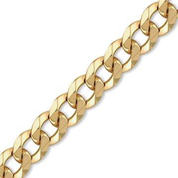Jewelco London 9K Gold schweres Gewicht Bordsteinkante Link 16mm Halskette -