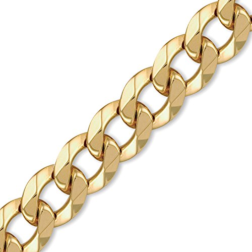 Jewelco London 9K Gold schweres Gewicht Bordsteinkante Link 20mm Halskette -