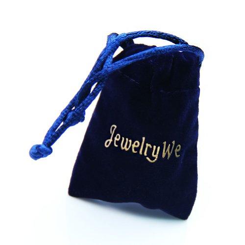 JewelryWe Schmuck Herren Armband, Klassiker Glänzend Poliert Link Armreif, Edelstahl, Silber Gold -