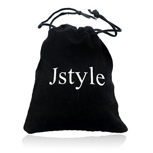 Jstyle Leder Armband Herrenarmreif Armreif Armkette Legierung für Damen Herren 21.5cm -