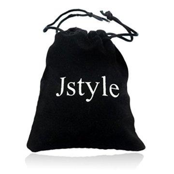 Jstyle Schmuck Leder Armband Armreif Herren Armband Set Armbänder Arm Band für Frauen Liebe 21,5cm* 10mm -