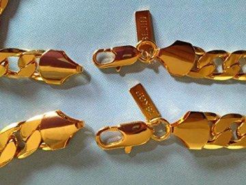 Life Time Garantie 22,9 cm sejin sg1207 W: 12 mm 18 K Gold Armband | verblasst nicht | Life Time Qualitätssicherung (9) -