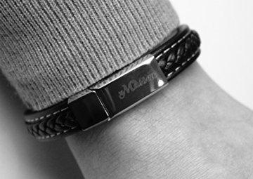 Massea Lederarmband mit Edelstahl Magnetverschluss – Armband -