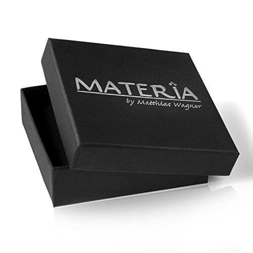 MATERIA 3mm Panzerkette Silber 925 vergoldet diamantiert Gold Halskette Herren Damen 40-80cm mit Box #K70 -