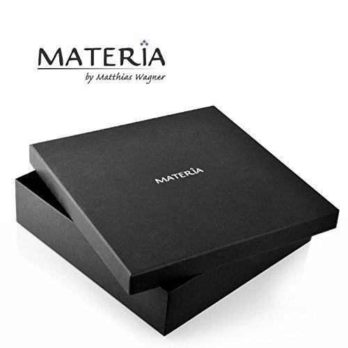MATERIA Königskette 925 Silber Herren Armband 3mm diamantiert rhodiniert deutsche Fertigung #SA-36 -