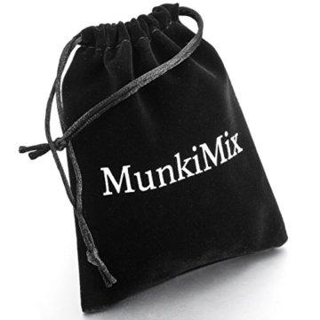 MunkiMix 3000g Magnet Kugel Perle Perlen Edelstahl Kohlenstoff Carbon Fiber Kohlefaser Armband Link Handgelenk Schwarz Herren -