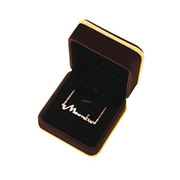 Namenskette Buchstabenkette Anfänger Kette Halskette Buchstaben Schreibschrift Personalisiert mit Ihrem Wunschbuchstaben 45cm -