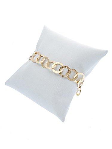nerdi–Armband Gehämmert klein Gold -