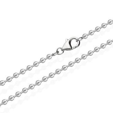 NKlaus 925 Sterlingsilber Kugel Kette für Anhänger Silberkette 3,00mm breit -
