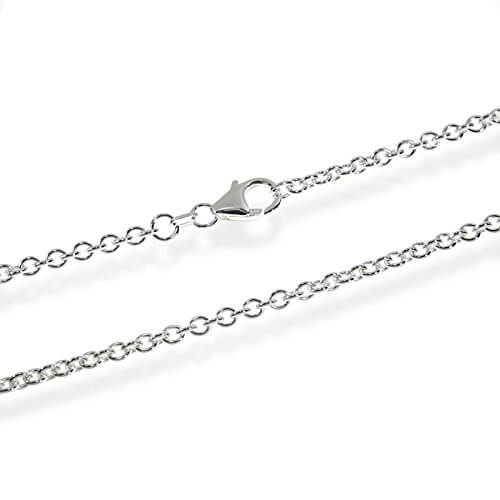 NKlaus ANKERKETTE 925 Sterling Silber Kette Rund MASSIV Collier 2,80mm breit -