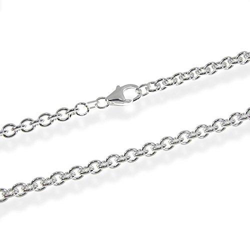 NKlaus ANKERKETTE 925 Sterling Silber Kette Rund MASSIV Collier 4,00mm breit -