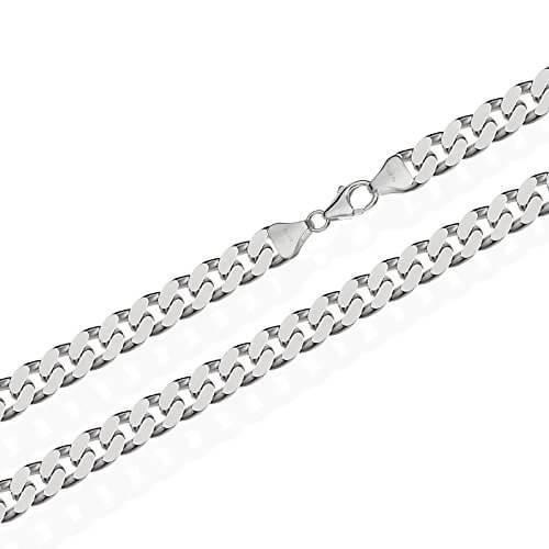 NKlaus Echt 925 Sterling Silber Silber Panzerkette Massiv 7,00mm breit -