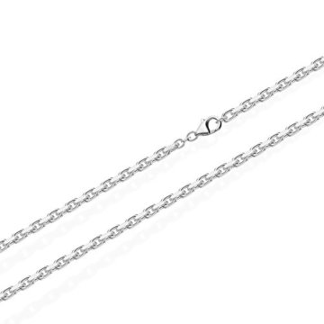 NKlaus Massive Ankerkette Collier 925 Silberkette Diamantiert 1,8mm 7g 3682 -