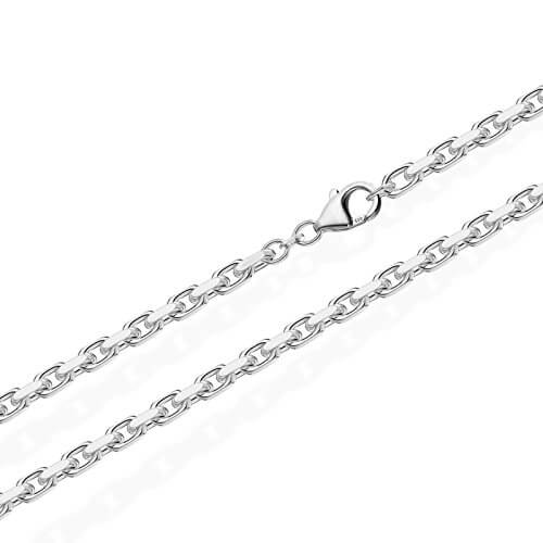 NKlaus Massive Ankerkette Collier 925 Silberkette Diamantiert 3,00mm breit -