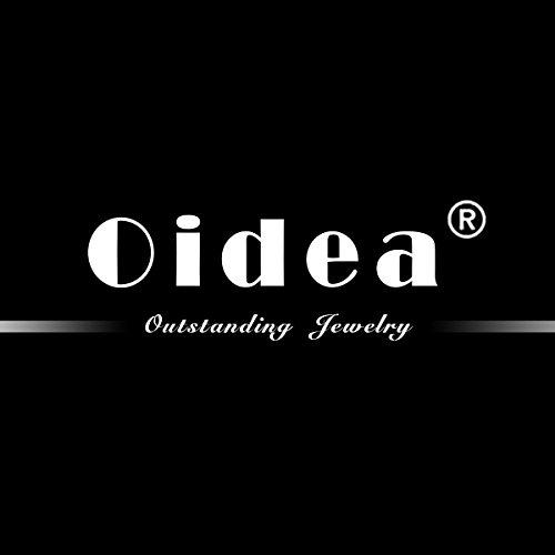 Oidea Herren Leder Armband Set (3PCS ), Punk Rock Stil 3.5cm-4.1cm Breite Große handgefertigt Manschette Kordelkette geflochtenes lederband Taper Nieten Armreifen, Legierung, silber schwarz -