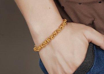 OPK Jewellery Leistungsstark Dragon Link Handgelenk Herren Schmuck Armband 18K Full vergoldet -