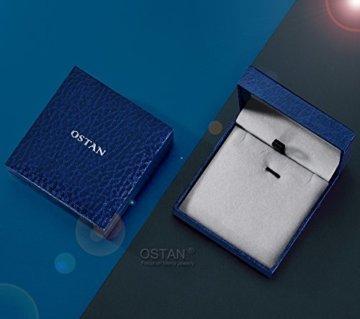 Ostan – Gotik 316L Edelstahl und Leder Armbänder Armreifen Herren Armband – Neue Mode Schmuck Armschmuck, Schwarz -