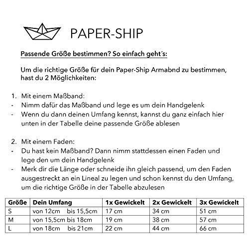 "Paper-Ship Armband ""Neapel II"" – Doppelt-gewickelt, Schwarzes geflochtenes Lederarmband mit Magnetverschluss -"