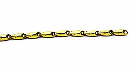 Pegaso Gioielli–Armband gold gelb 18kt Segment Herren Damen Jungen cm 19 -
