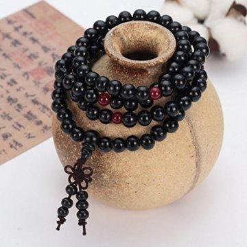 Perlen Armband Natur Holz Tibetischen Buddhistischen Buddha Meditation Halskette -