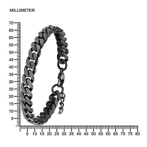 s.Oliver Herren-Armband Panzergliederung 20+2 cm verstellbar Edelstahl matt -