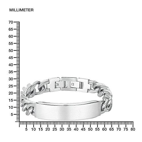 s.Oliver Herren-ID Armband Identarmband 20+2 cm verstellbar mit Plakette (gravierbar) Edelstahl -