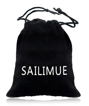 Sailimue 4-8Pcs Holz Perlen Leder Armband für Herren Damen Armbänder Leder Cuff Armband Elastik -