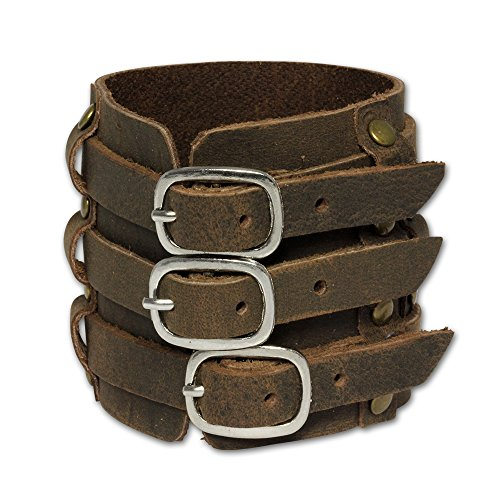 SilberDream Lederarmband braun Herren Leder Armband Echtleder LA1772 -