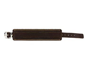 SIMARU Lederarmband Herren breit mit Naht, Leder Armband größenverstellbar, Männer Armband in schwarz oder braun, Herrenschmuck Mäde in Germany -