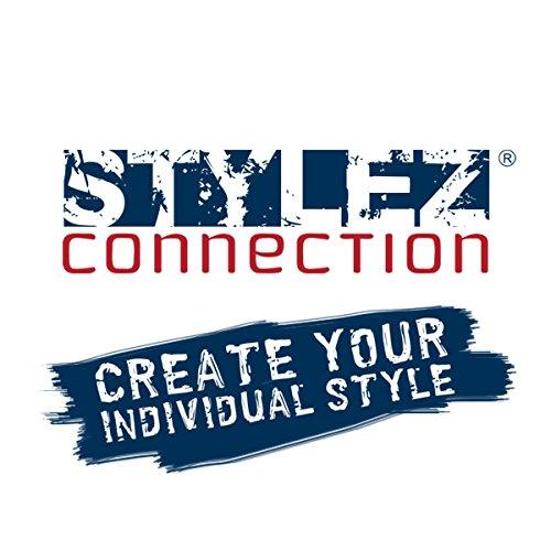 Stylez-Connection Lederarmband schwarz EXTRA BREIT Herren Leder Armband -