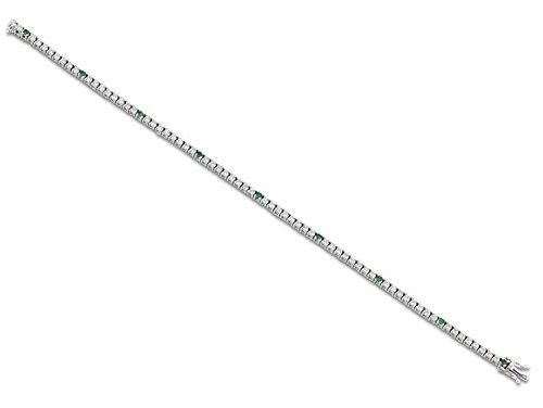 Tennis Armband Weißgold 18KT und Diamanten-und Emerald 1,69 CT ARMBAND Luxus Hochzeitsgeschenk für ihn Geschenk für ihre Hochzeits-Armband UNISEX MARIKA GIOIELLI MADE IN ITALY -