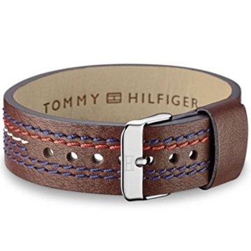 Tommy Hilfiger Jewelry Herren-Armband Men's Casual Edelstahl Leder 21.6 cm – 270068 -