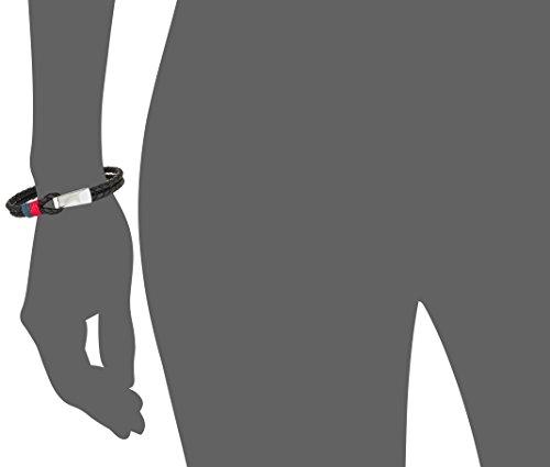 Tommy Hilfiger Jewelry Herren-Armband Men's Casual Edelstahl Leder 23 cm – 270067 -