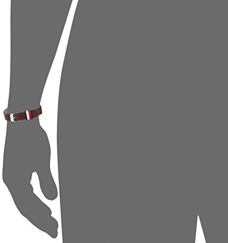 Tommy Hilfiger Jewelry Herren-Armband Men's Casual Edelstahl Leder 25 cm – 2700957 -